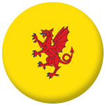 Somerset County Flag 58mm Button Badge